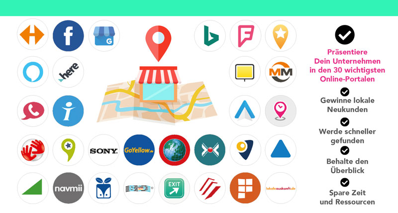 LocalSeo Branchen listing Firmenverzeichnis network - Online-Marketing und Webdesign